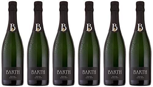 Barth Wein- und Sektgut Riesling Sekt Extra Brut (extra herb) Bio (6 x 0.75 l)