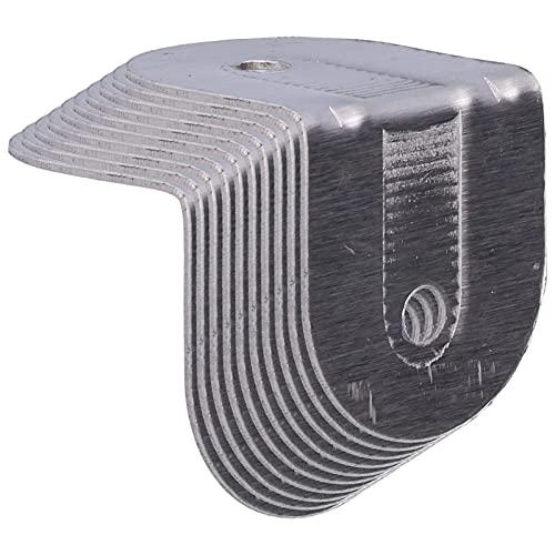 Conector de esquina para escritorio, abrazadera de esquina Mano de obra fina Resistente a la corrosión Soporte de carga fuerte para el trabajador para los gabinetes para los hombres para
