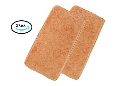 Pet Kennel Pads Pack of 2 Soft Replacement Inserts for Pet Travel Carriers & Pet Beds Highly Absorbent Liners for Sleeping & Traveling Washable Padded Covers for Cats & Dogs (Beige 2 Pack)