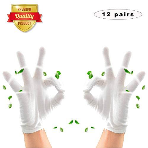 weiße Handschuhe Baumwolle,baumwollhandschuhe Arbeitshandschuhe,Cotton Gloves,stoffhandschuhe,weiße Handschuhe für tägliche Arbeit,Handschuhe für hautpflege