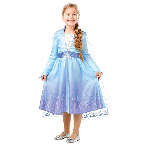 Disney, Elsa Travel Frozen2 Classic - Disfraz de Elsa Travel, Multicolor, S (3-4 años)