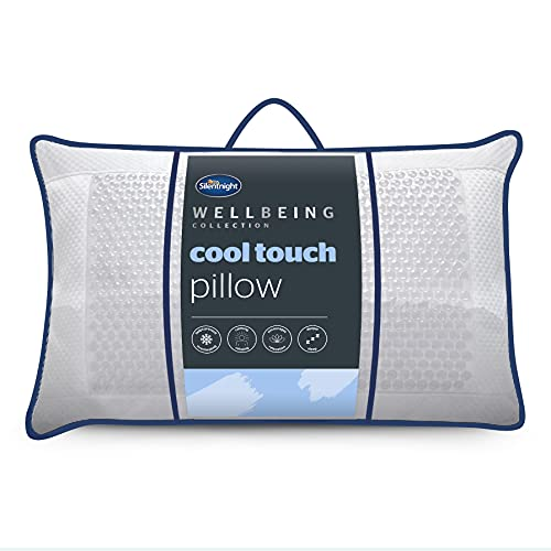 Silentnight Cool Touch Pillow and Pillowcase - Cooling Pillow for Sleeping...