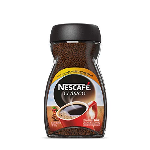 NESCAFE CLASICO Dark Roast Instant Coffee 7 Ounce ( Packaging May Vary)