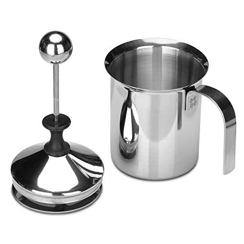 Lysport 400ml Frother di latte in acciaio inox Macchina da caffè crema di caffè crema di caffè crema di latte Crema di caffè di Foamer del caffè