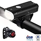 LZRYX Bicycle Headlight, USB Rechargeable 400 Lumen LED Bike Front Light Runtime 8+ Hours Mountain...