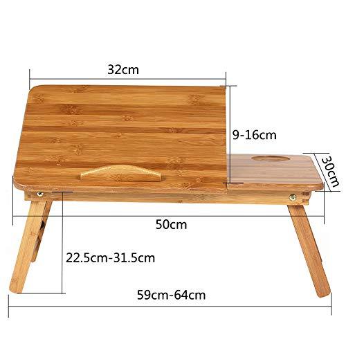 ZXQZ zhuozi Table d'ordinateur Portable, Table de Jeu Pliable, Bureau de lit en Bois, Enfants apprenant la Table à Dessin Bureau Pliant (Taille : 50 * 30 * 31.5cm)