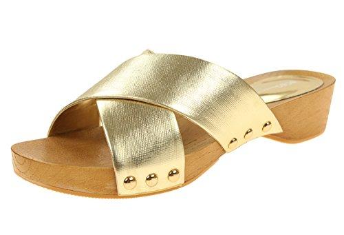 BCBGeneration Women's BG-Soho Dress Sandal (7.5, Y-Gold)