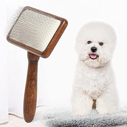 Haustiere Bürste Hundezubehör Pflegekamm Holzgriff Luftkissen Nadel Für Massage Und Pflege Tierhaarentferner