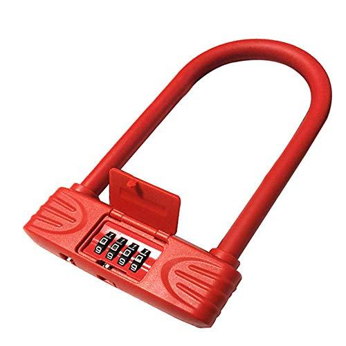 WERNG fietsslot type T diefstalbeveiliging, digitale code, waterdicht en stofdicht, voor het vergrendelen van fiets/motorfiets/auto/elektronica