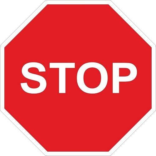CABLEPELADO Señal Vial Octogonal Stop Metalica Termolacada 50 cm Rojo