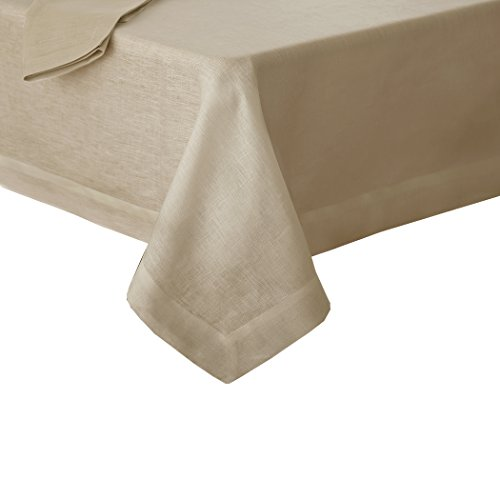 "Villeroy and Boch La Classica Luxury Linen Fabric Tablecloth, 70""x126"", Natural"