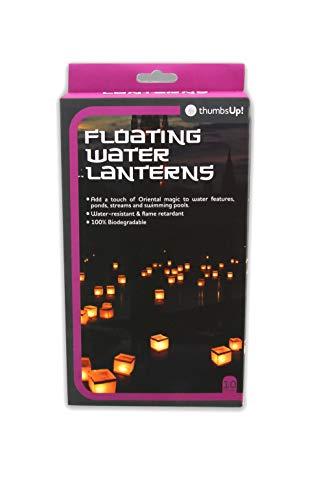 Monsterzeug 10 Wasserlaternen - 100% biologisch abbaubar, Schwimmende Glückslaternen mit Kerzen, Schwimmlichter als Outdoor Dekoration