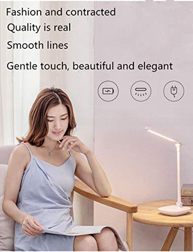 USB-lader inklapbare multifunctionele tafellamp driekleurige temperatuur studentenhuisje leesbureaulamp is niet bang voor stroomuitval - lichtroze - sturen USB-ventilator touch-schakelaar