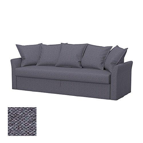 Soferia - IKEA HOLMSUND Funda para sofá Cama de 3 plazas, Nordic Anthracite
