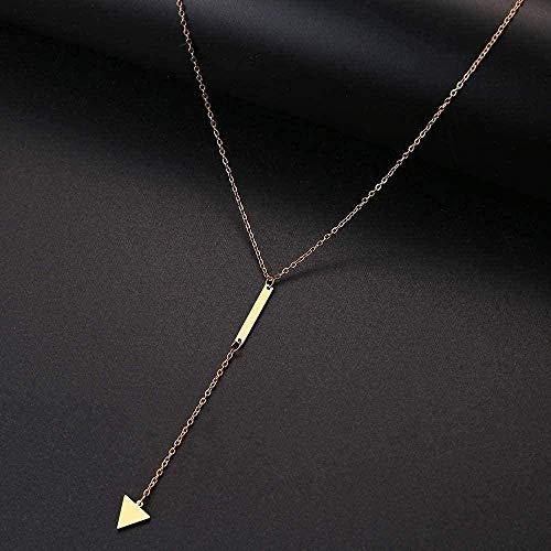 LBBYMX Co.,ltd Collar de Moda para Mujer, Collar Simple, Colgante de triángulo, joyería, Collar de Regalo de Acero Inoxidable para Mujeres y Hombres