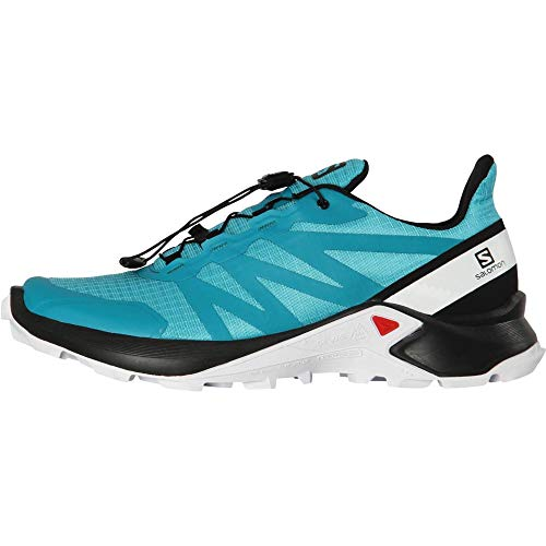 Salomon Women's Supercross Trail Running Shoes, Bluebird/Black/White, 10.5