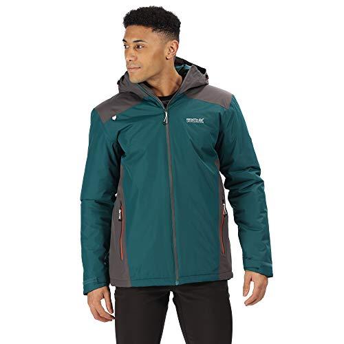 Regatta Herren Thornridge II Waterproof Thermo-Guard Insulated Hooded Outdoor Jacket wasserdichte, isolierte Jacke, Tiefblaugrün Magnet, Größe S