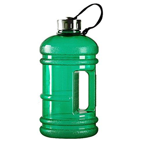 Kuhn Rikon Colori–Portátil Sin BPA reutilizable jarra resina deportes botellas de agua, 2,2litros, Green-D