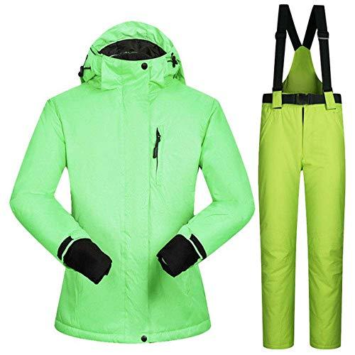 Traje de esquí súper cálido Invierno Mujer Chaqueta de esquí Femenina a Prueba de Viento Trajes de pantalón Impermeable Conjunto de esquí de montaña para Mujer Ropa de esquí para Mujer
