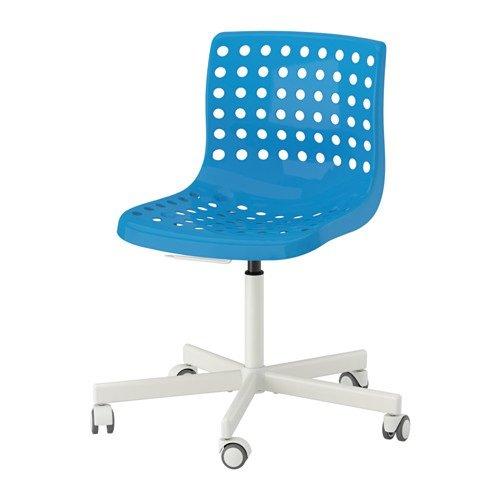 Ikea skalberg/sporren–Drehstuhl, blau, weiß