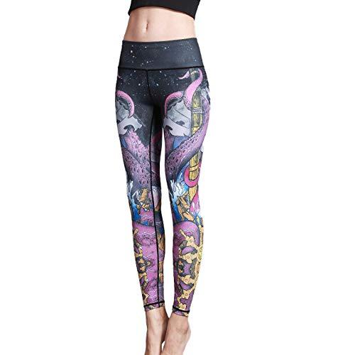 XINYUAN Pantalones De Yoga Ajustados con Estampado Sexy para Mujer, Mallas De Tiburón para Gimnasio, Pantalones De Chándal Elásticos, Ropa Deportiva De Secado Rápido para Co 6-L