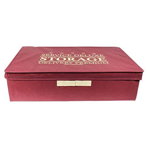 JE CHERCHE UNE IDEE - Boite de Rangement Pliable Bordeaux 38L - Dimensions : 60 x 40 x 16 cm