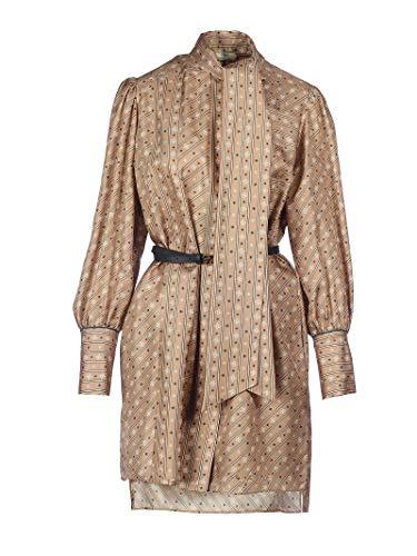 Luxury Fashion | Fendi Dames FDA707A9DRF19EK Roze Zijde Jurken | Lente-zomer 20