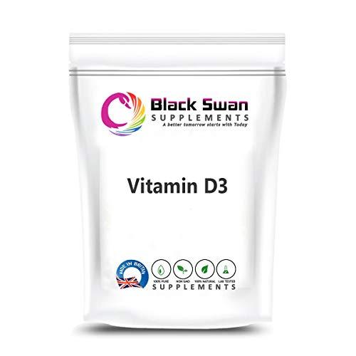 Black Swan Vitamin D3 Supplements 5000 IU Tabs - Sunshine Vitamin - Support Healthy Immune System - Healthy Muscle Strength - Healthy Teeth (60 Tabs)