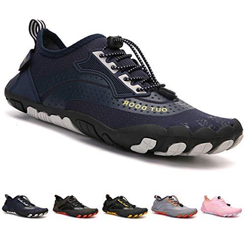 Zapatillas de Trail Running Minimalistas Zapatos Barefoot Agua Antideslizante Ligeras Natación de Secado Rápido Playa Surf Ciclismo Unisex Hombre Mujer Azul 44