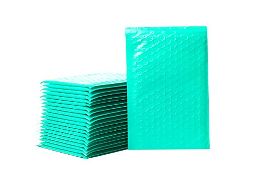Empire Mailers #000 4 x 8-inch Teal Green Padded Envelopes, Self Seal Mailers, Bubble-Lined Shipping Envelopes, Mail-Approved Poly Bubble Mailers, Self-Sealed Mailing Packages, Pack of 500