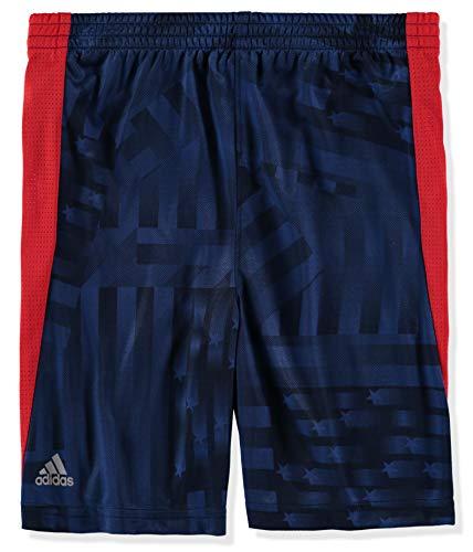 Adidas Jungen Basketball-Shorts Athletic - Blau - 7X