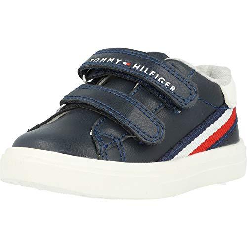 Tommy Hilfiger Low-Cut Velcro Kinder Sneaker Blau 26 EU