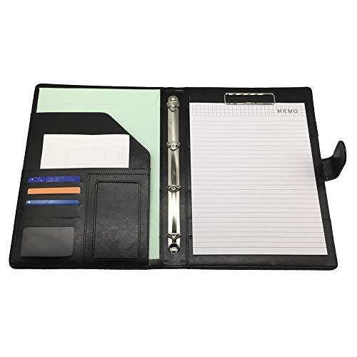 [FUPUTWO] クリップボード A4 バインダーケース ホルダー クリアファイル付き 仕事 会議 (ブラック)