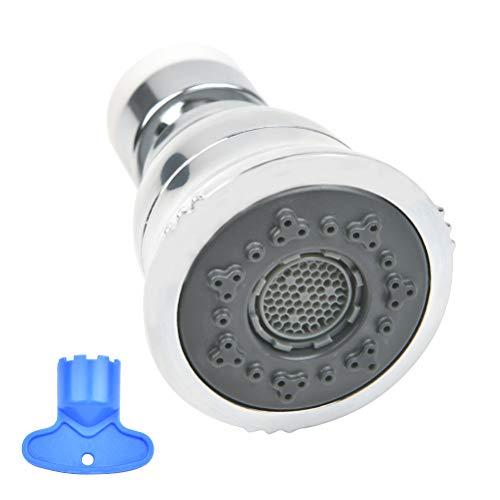 THETHO 360° Aireador Grifo Cocina Ajustable Giratorio Aireador Filtro Grifo Baño ducha Atomizador Grifo con Adaptadores Con Cromo Pulido Boquilla de Rosca Externa M22 Rosca Interna M24 2 modos