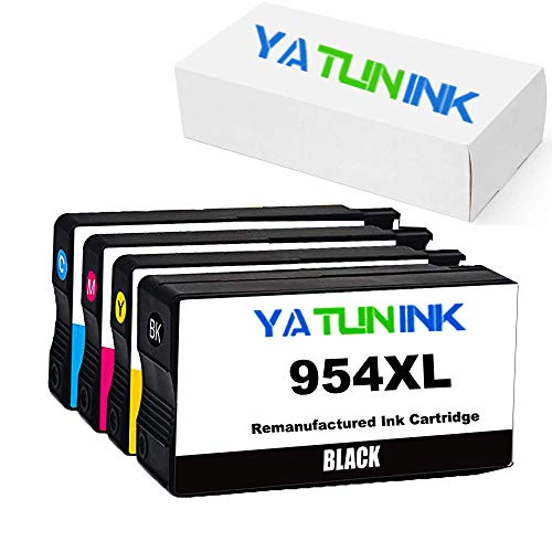 YATUNINK Remanufactured Ink Cartridge Replacement for HP 954XL Ink Cartridge Fit Officejet 7740 OfficeJet 8210 OfficeJet 8710 OfficeJet 8720 OfficeJet 8730 Printers (4 Pack)