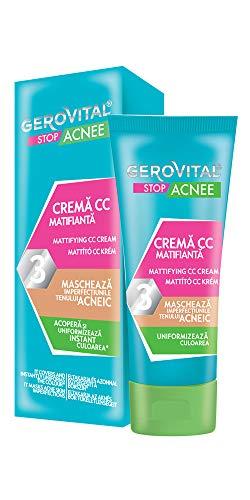 Gerovital Stop Acnee, Crema CC Matificante, por Tipo de Piel: Combinación Acnéica Grasa, 30 ml