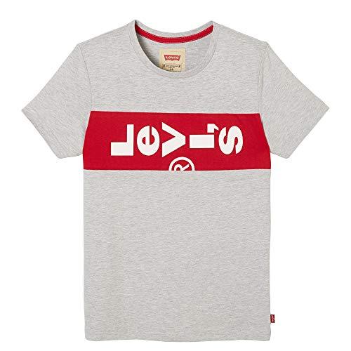Levi's kids Nn10007 Short Sleeve tee-Shirt Camiseta, Gris (Light China Grey 22), 14 años (Talla del Fabricante: 14Y) para Niños