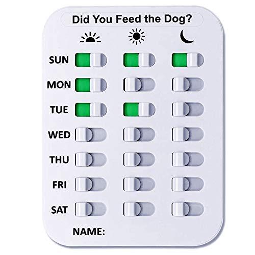Petsfond Recordatorio para Control de Comida y Medicamento - Evita el sobrepeso y la obesidad de tu Perro Gato Peces y Animales