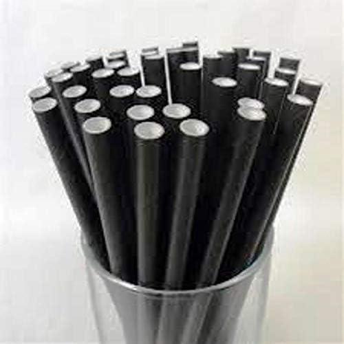 4000 Noir Compostable Papier Jeu Pailles (120mm) ( sur Tout Produits)
