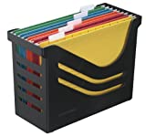 Jalema Atlanta Res - Caja reciclada para archivos (incluye 5 archivos de varios colores), color negro