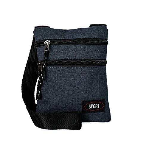 Sport Herren Secret Neck Wallet, Kinder Brustbeutel mit Reißverschlüsse und Kordeln, Frauen Umhängetasche Patch (blau, Einheitsgrösse)