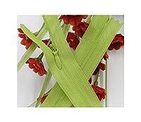 8本のロングジッパーDIYのナイロンコイルジッパーのために縫製衣服、ライトグリーンNum234,3番号、全体の長さ50センチメートル
