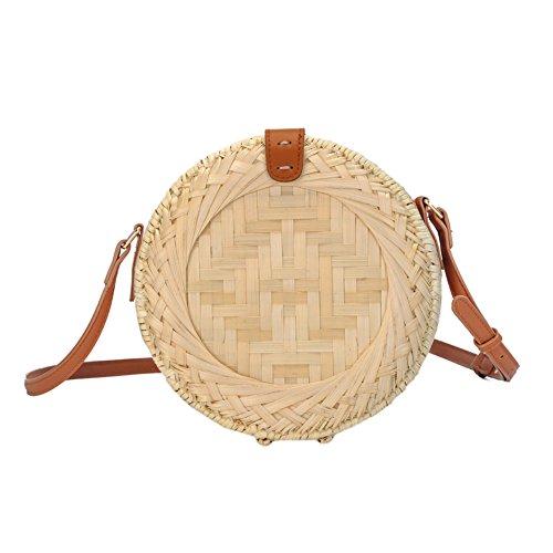 XGZ rotantas, rond, zomer stro, crossbody tas, mandtas, handgemaakt, strotassen, dames handgeweven schoudertas