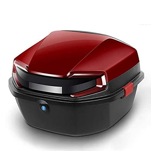 SYHDML Baúl de Moto Universal con Reposo,Gran Capacidad,Estuche de Soporte de Almacenamiento Duradero Fuerte con Llave y Hardware de Montaje,for Scooter de Motocicletas (Color : 02)