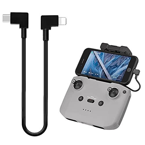 iEago RC Type C a Cavo Dati 90 gradi Adattatore per Cellulare Tablet a Telecomando del drone Trasmissione Immagine Dati Compatibile con DJI Mini 2  Mavic Air 2 Mavic Air 2S   Osmo Pocket 2 1