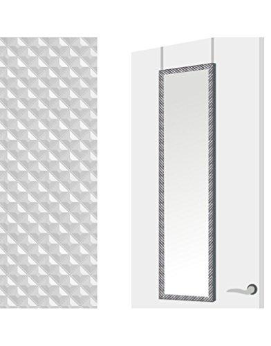Espejo para Puerta Moderno, Plateado con diseño Geométrico