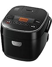 【Amazon.co.jp限定】アイリスオーヤマ 炊飯器 マイコン式 極厚銅釜 銘柄炊き分け機能付き ブラック SmartBasic