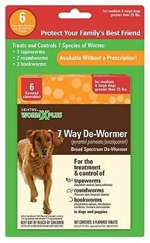 Sergeants Pet Care Prod 03933 6CT Large Dog Wormx Plus - Quantity 1