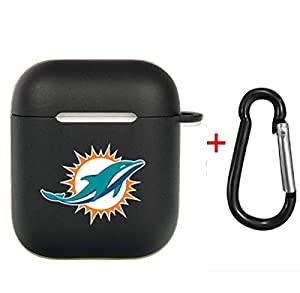 Zhang Fu Li American Football Collection - AirPods Soft TPU Case Shockproof Protective Case Cover Compatible with Apple AirPods & AirPods 2019 for Miami Dolphins)