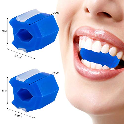 Jawline Trainer Ball, Jawline Trainer, Jaw Exerciser, Gesichtsstraffer, Reduzieren Sie das Doppelkinn und straffen Sie das Gesicht, Indem Sie die Nacken- und Gesichtsmuskulatur trainieren (blau).